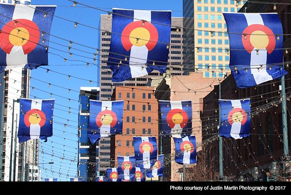 Colorado Flags Downtown Denver